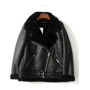 NWOT 🌟 Faux Fur Moto Shearling Jacket